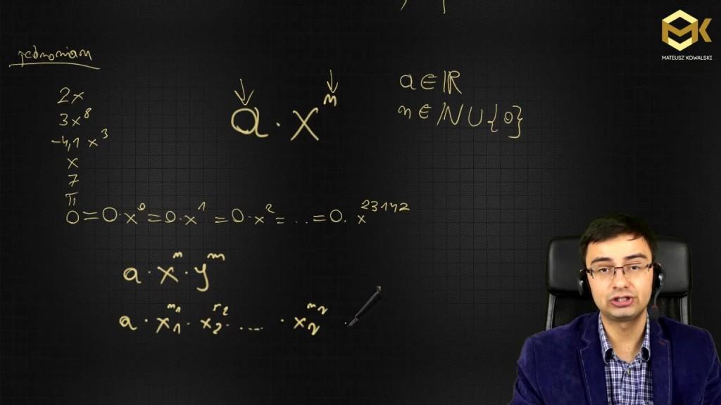 Wyrażenie algebraiczne, jednomian - algebra