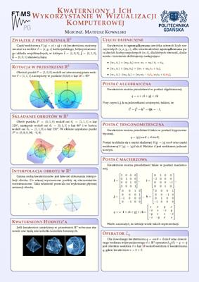 Kwaterniony i ich zastosowanie w grafice komputerowej